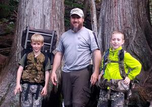 Bill Holland and his sons on a recent camping trip